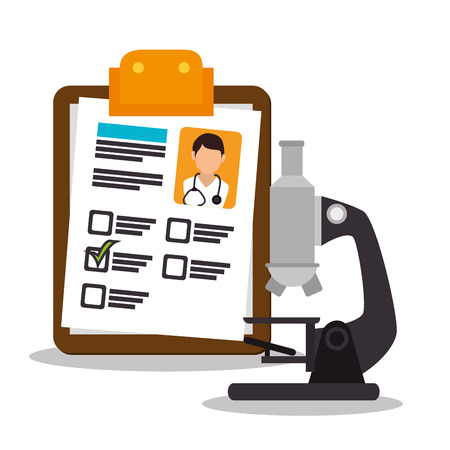 social history: Medical healthcare graphic design with icons, vector illustration graphic Illustration
