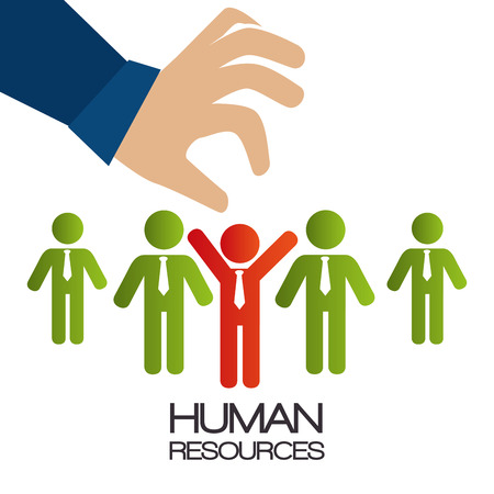 human resource: Find person to get a job graphic design, vector illustration  Illustration