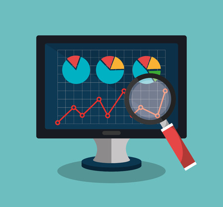 analyse: Analitycs search and SEO graphic icons, vector illustration design Illustration