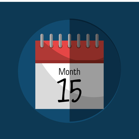 payday: Calendar payday month graphic, vector illustration design Illustration