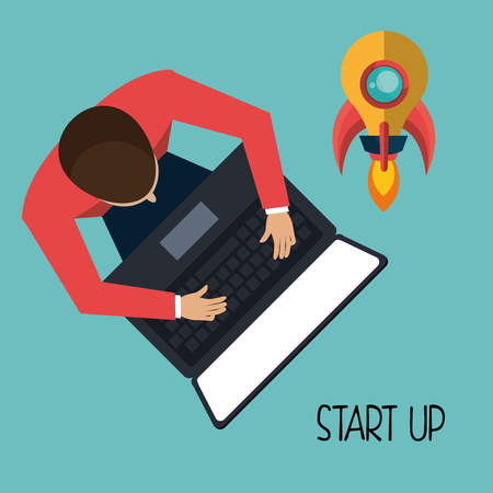 new opportunity: Start up company graphic, vector illustration design Illustration