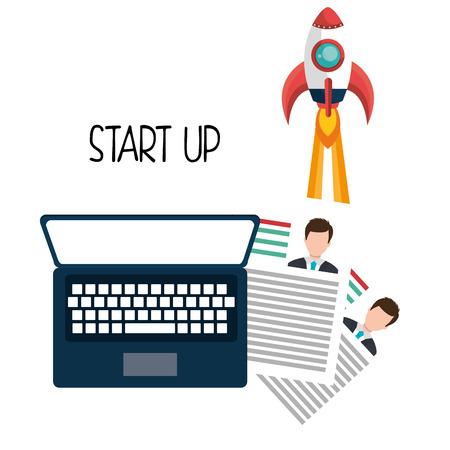 founding: Start up company graphic, vector illustration design Illustration