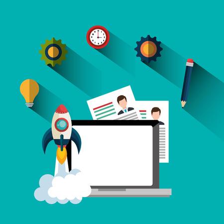 founding: Start up company graphic, vector illustration design Stock Photo