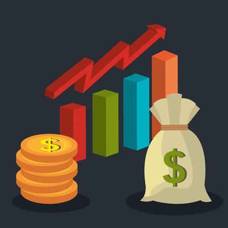 bard: Stock market and exchange graphic icons, vector illustration