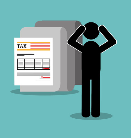 payday: Goverment taxes payday graphic icons, vector illustration