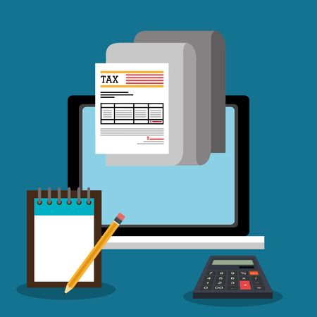 goverment: Goverment taxes payday graphic icons, vector illustration