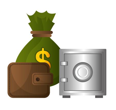 incomes: Bank,global economy and money savings graphic, vector illustration design