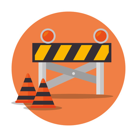 industrial safety: Under construction and tools graphic design, vector illustration