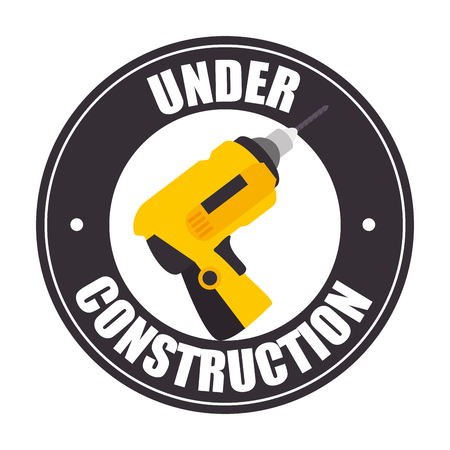recondition: Under construction and tools graphic design, vector illustration