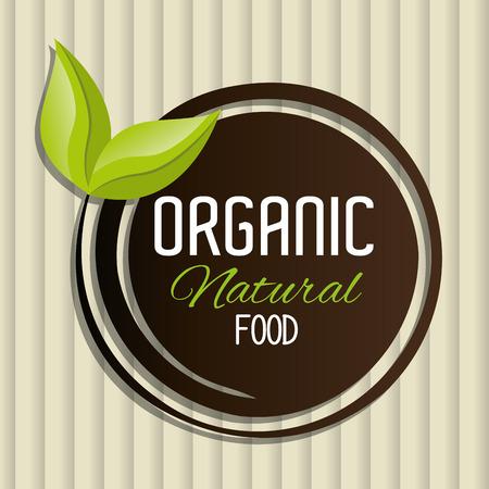 diseño gráfico alimentos naturales y orgánicos, ilustración vectorial