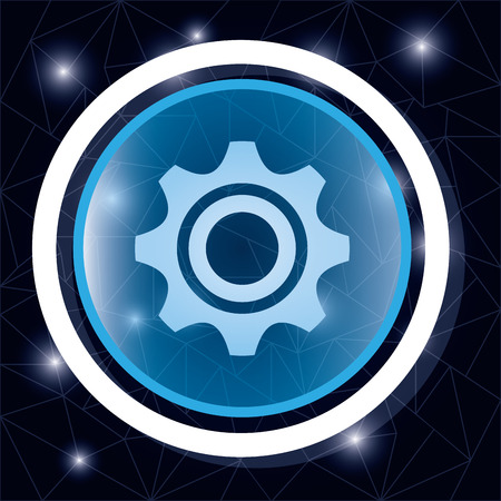 gearing: Gear cog wheel button graphic design, vector illustration eps10