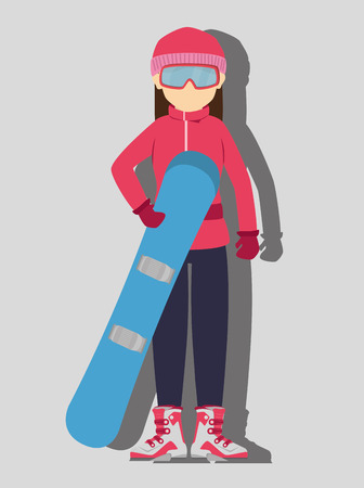 wear: Winter sport and wear accesories design theme, vector illustration graphic