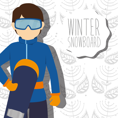 athletic wear: Winter sport and wear accesories design theme, vector illustration graphic