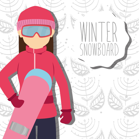 ski wear: Winter sport and wear accesories design theme, vector illustration graphic