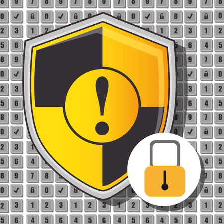 attentions: Security system and surveillance graphic design with icons, vector illustration