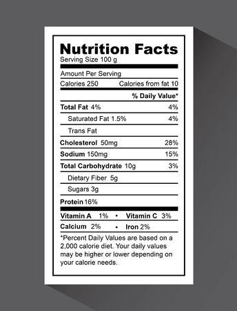 栄養事実デザイン、ベクトル図 eps10 グラフィック