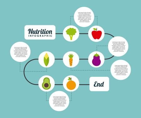 nutrition: nutrition concept design, vector illustration eps10 graphic Illustration