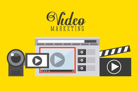 Video-Marketing-Design, Vektor-Illustration eps10 Grafik Standard-Bild - 48588932