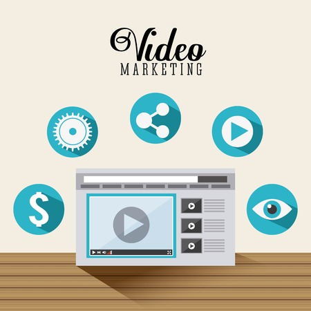 analisys: video marketing design, vector illustration eps10 graphic