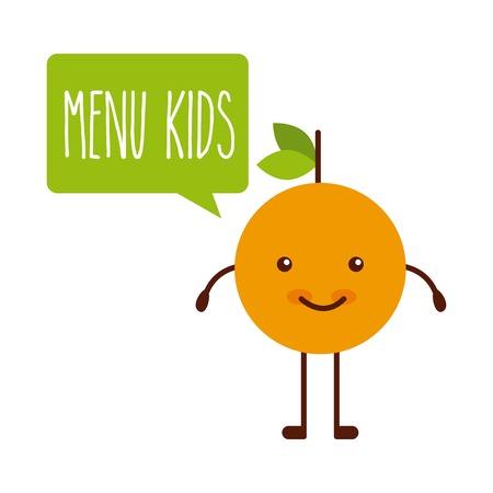 frutas divertidas: los niños menú de diseño, ilustración vectorial gráfico eps10 Vectores