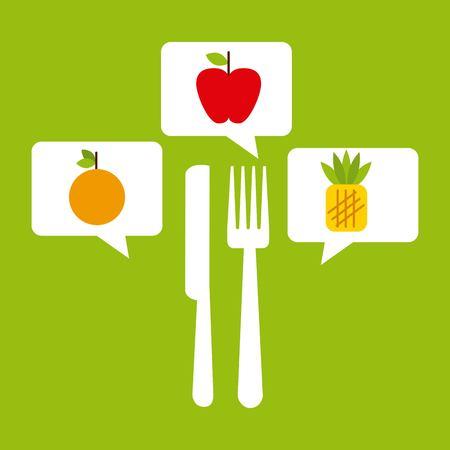 nutritional: nutritional food design, vector illustration eps10 graphic Illustration