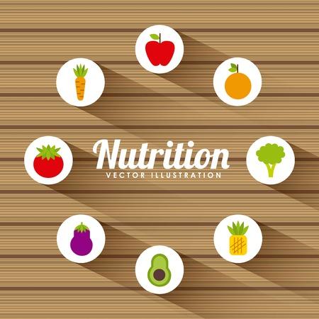 nutritional food design, vector illustration eps10 graphic Illustration