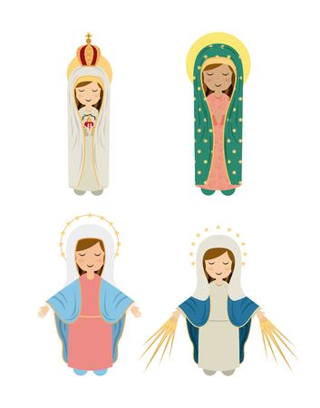 Mother Mary: Catholic religion design, vector illustration eps10 graphic Illustration