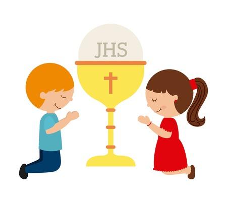 holy  symbol: primera comunión diseño, ilustración vectorial gráfico eps10