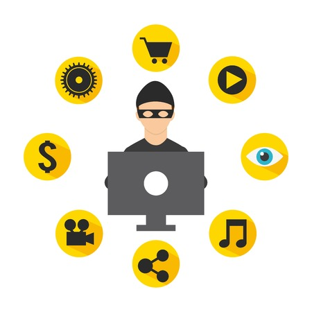 data theft: security system design, vector illustration eps10 graphic Illustration