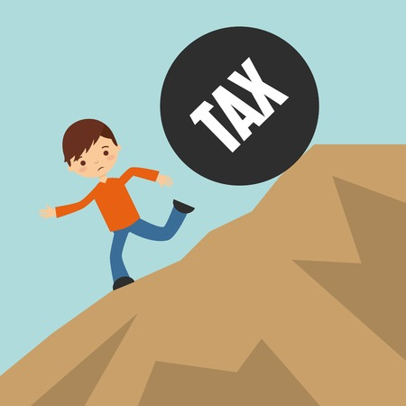 mount price: tax liability design, vector illustration eps10 graphic