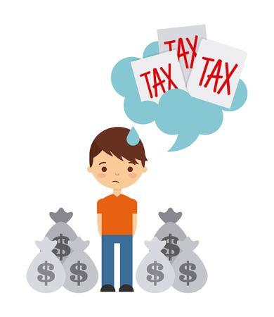 trauma: tax liability design, vector illustration eps10 graphic