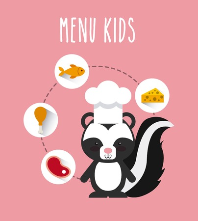 children clothing: kids menu design, vector illustration eps10 graphic Illustration