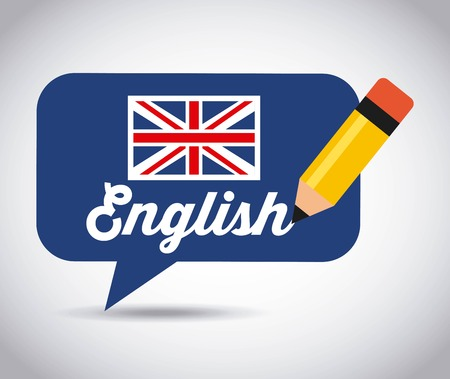 learn english design, vector illustration eps10 graphic Stock Vector - 48622146