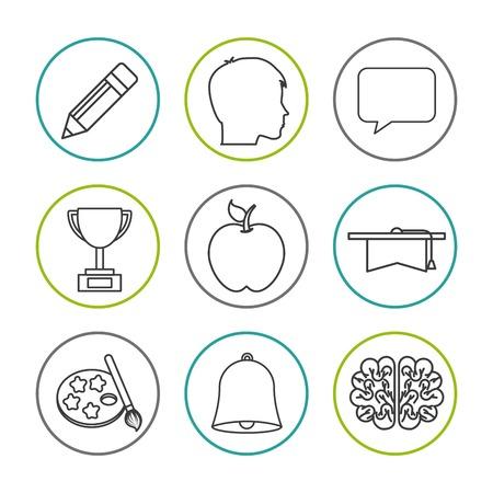 high school icon design, vector illustration eps10 graphic