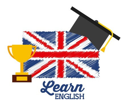 lets: learn english design, vector illustration eps10 graphic