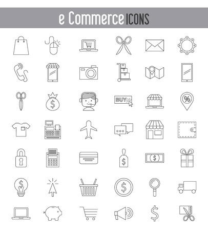 web shopping: e-commerce icons design, vector illustration eps10 graphic Illustration