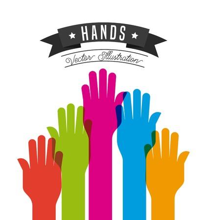 eps10: hand gestures design, vector illustration eps10 graphic