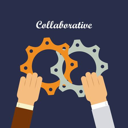 collaboration team: colaborative people design, vector illustration eps10 graphic
