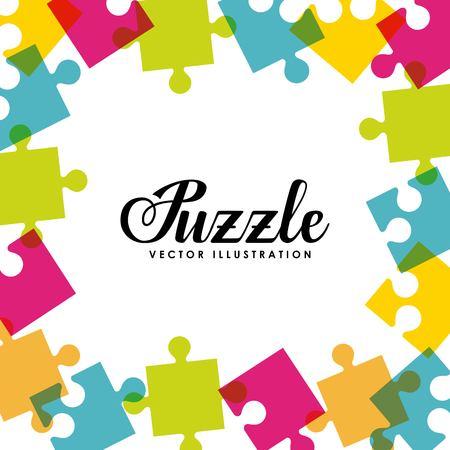 assembling: puzzle assembling design, vector illustration eps10 graphic Illustration