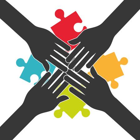 colaboracion: la gente de colaboraci�n de dise�o, ilustraci�n vectorial gr�fico eps10