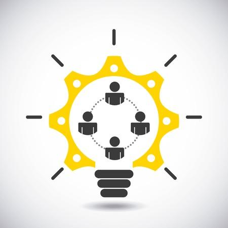 collaborative people design, vector illustration eps10 graphic