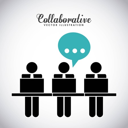 collaboration team: collaborative people design, vector illustration eps10 graphic