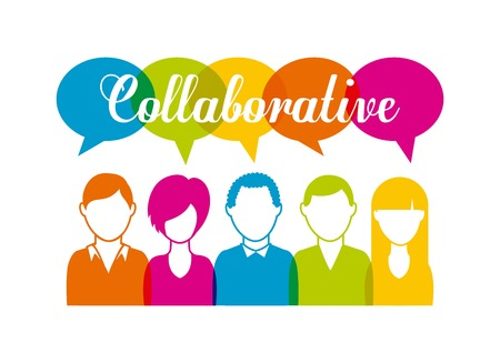 collaborative: collaborative people design, vector illustration eps10 graphic