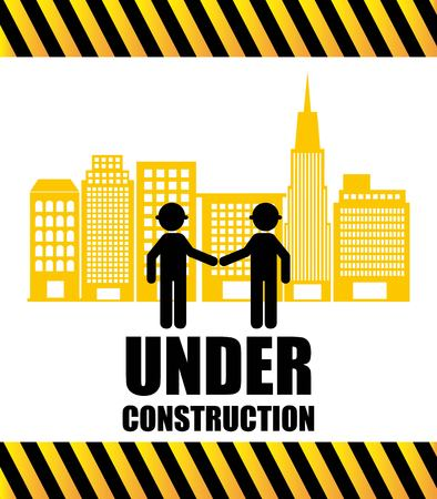 under construction symbol: under construction design, vector illustration eps10 graphic Illustration