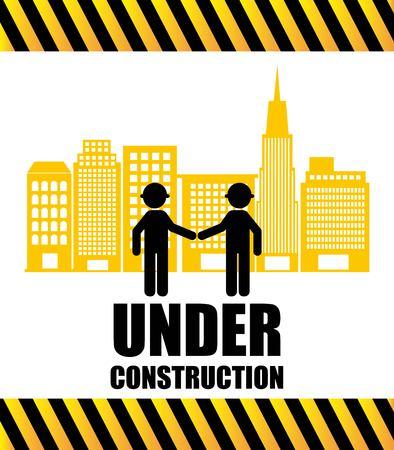 under construction sign: under construction design, vector illustration eps10 graphic Illustration