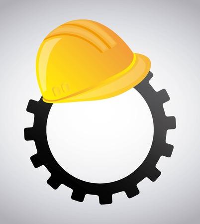 construction safety: under construction design, vector illustration eps10 graphic Illustration