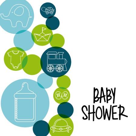teteros: bebé ducha diseño, ilustración vectorial gráfico eps10
