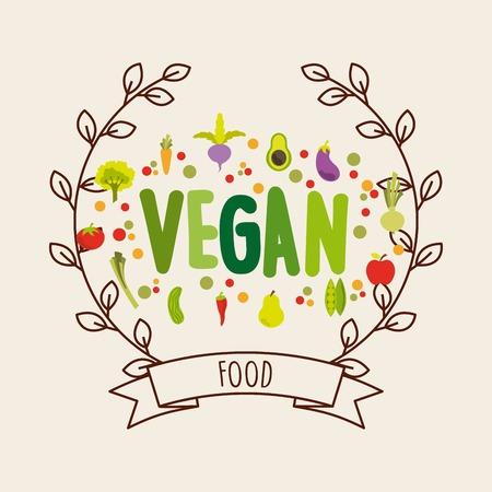 peper: vegetarian food design, vector illustration eps10 graphic