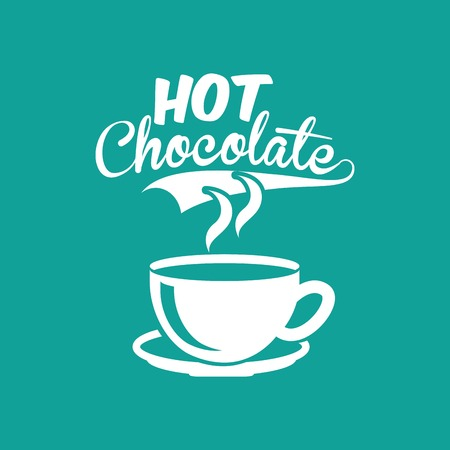 hot chocolate design, vector illustration eps10 graphic Ilustracja