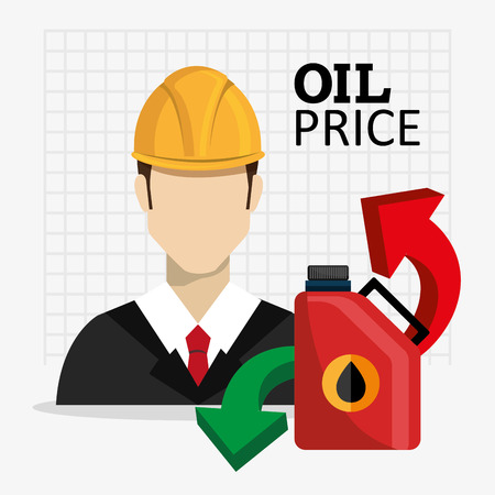 price development: Petroleum and oil industry prices graphic design, vector illustration eps10